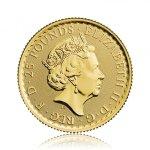 Zlatá investiční mince Britannia 7,78 g – druhá strana