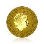 Zlatá investiční mince Australská Lunární Série I. 2005 Kohout 31,1 g (1 Oz) - druhá strana
