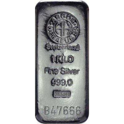 Stříbrný investiční slitek Argor-Heraeus 1000 g