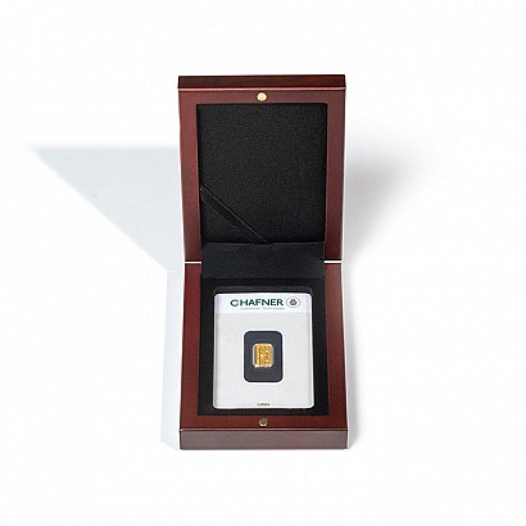 Etuje VOLTERA pro 1 ražený slitek v blistru na výšku mahagon - první obrázek