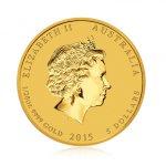 Zlatá investiční mince Australský lunární rok 2015 Koza 1,55 g (1/20 Oz) - druhá strana