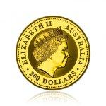 Zlatá investiční mince Australská Lunární Série I. 2001 Had 62,2 g (2 Oz) - druhá strana