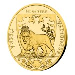 Zlatá uncová investiční mince Český lev 2020 proof 31,1 g (1 Oz) - další obrázek