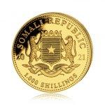 Zlatá investiční mince Africká divočina Somálský slon 31,1 g (1 Oz) - druhá strana