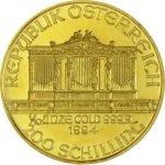 Zlatá investiční mince Wiener Philharmoniker ATS 3,11 g (1/10 Oz) - druhá strana