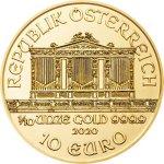Zlatá investiční mince Wiener Philharmoniker 3,11 g (1/10 Oz) - dárkové balení
