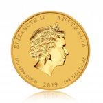 Zlatá investiční mince Australský lunární rok 2018 Vepř 1 Oz – druhá strana