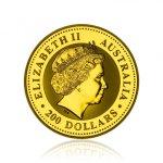 Zlatá investiční mince Australská Lunární Série I. 2002 Kůň 62,2 g (2 Oz) - druhá strana