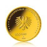 Zlatá mince 100 EURO Säulen der Demokratie Einigkeit 2020 15,55 g (1/2 Oz) - druhá strana