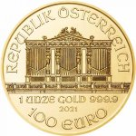 Zlatá investiční mince Wiener Philharmoniker různé ročníky 31,1 g (1 Oz) - druhá strana