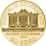 Zlatá investiční mince Wiener Philharmoniker 15,55 g – druhá strana