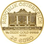 Zlatá investiční mince Wiener Philharmoniker 7,78 g – druhá strana