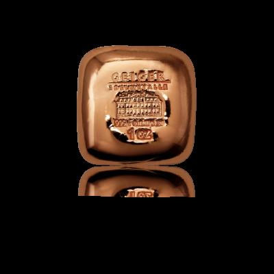 Měděný slitek Leipziger 31,1 g (1 Oz) - jedna strana