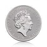 Platinová investiční mince Britannia 31,1 g (1 Oz) - druhá strana