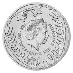 Stříbrná dvouuncová investiční mince Český lev 2021 stand 62,2 g - druhá strana