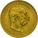 Zlatá mince 20 Korun Rakousko novoražba 6,09 gramu – druhá strana