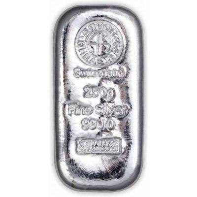 Stříbrný investiční slitek Argor-Heraeus 250 g - první obrázek