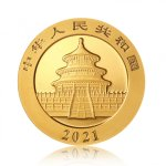Zlatá investiční mince China Panda (Čínská panda) 30 g - druhá strana