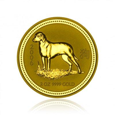 Zlatá investiční mince Australská Lunární Série I. 2006 Pes 62,2 g - 1. strana