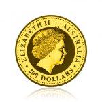 Zlatá investiční mince Australská Lunární Série I. 2006 Pes 62,2 g - 2. strana