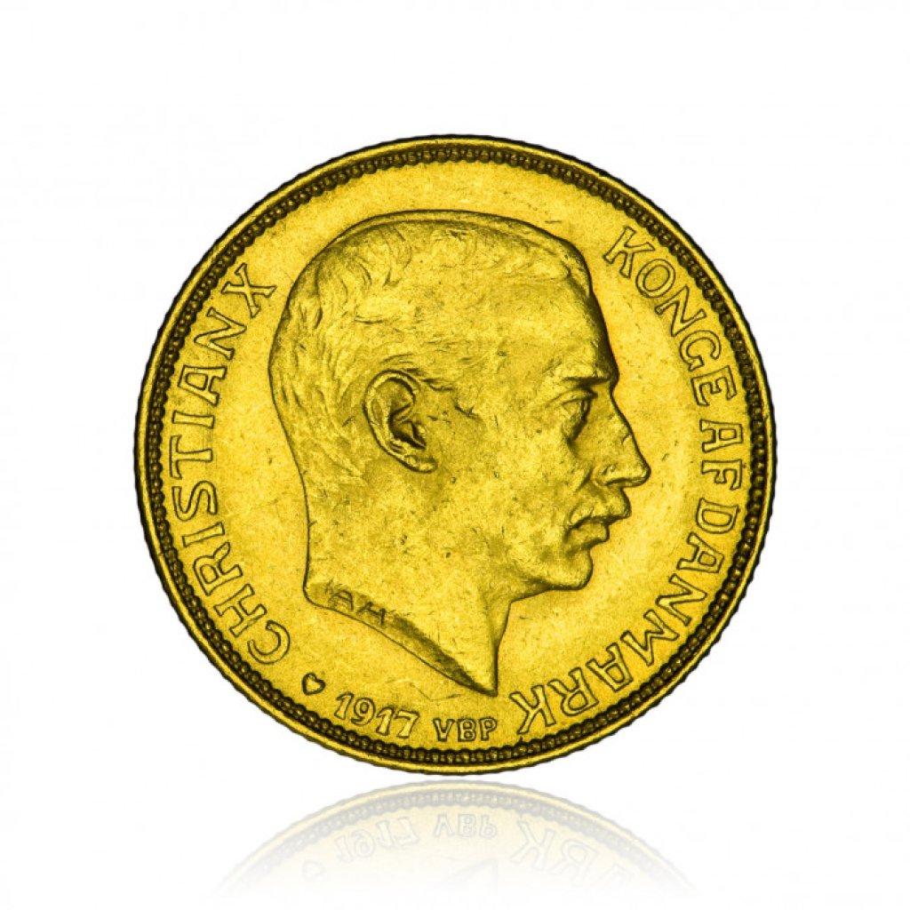 Zlatá mince Gold Christian X 20 DKR 8,06 g - 2. strana