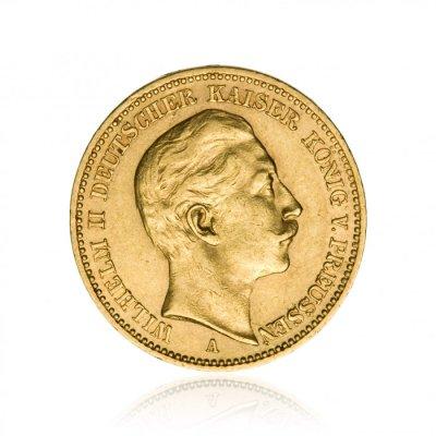 Zlatá mince Vilém II. Pruský 20 Mark 7,16 g - 2. strana