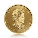 Zlatá investiční mince Maple Leaf 10 kg - 2. strana
