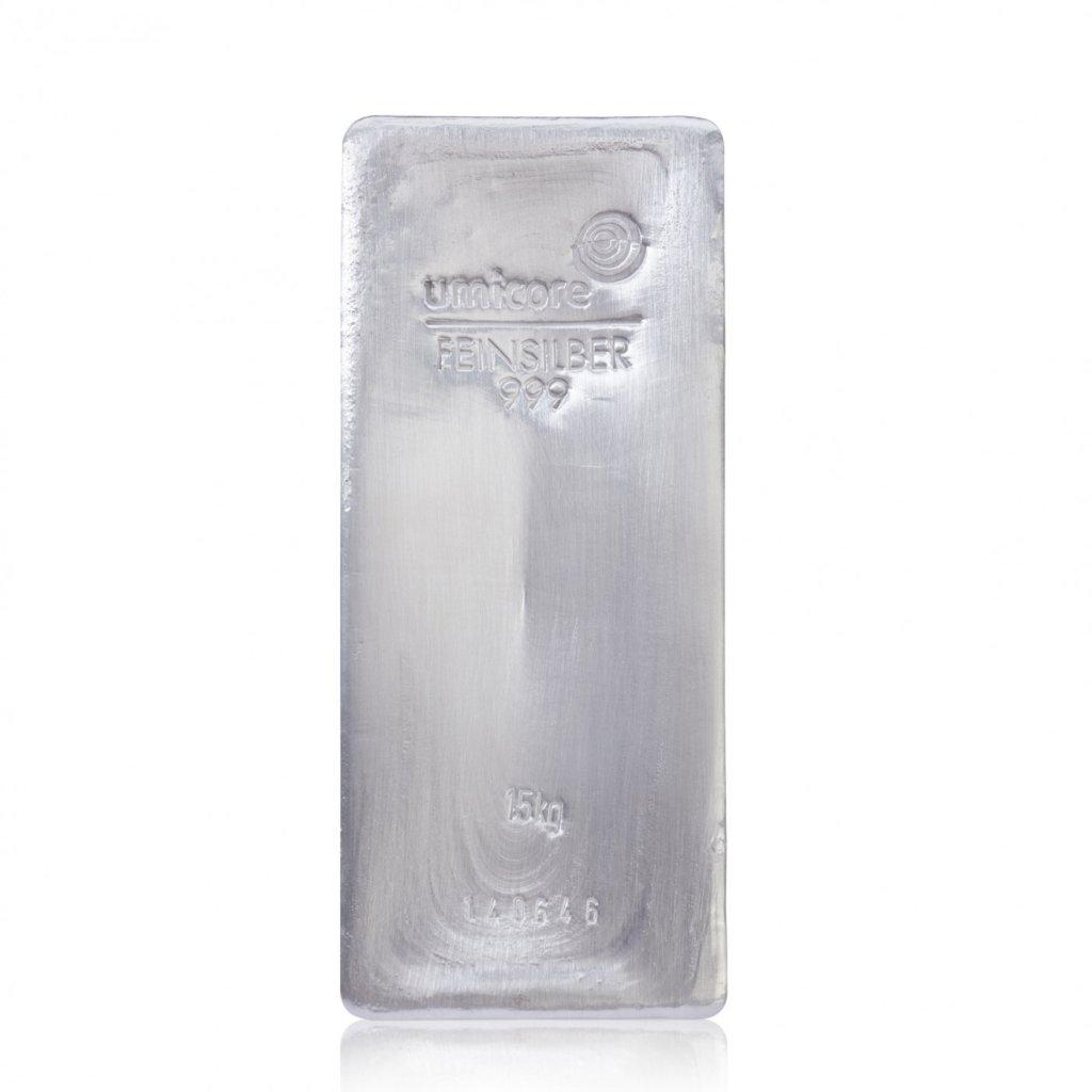 Stříbrný slitek 15 kilogramů