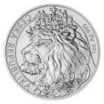 Stříbrná uncová investiční mince Český lev 2021 stand 31,1 g (1 Oz) - první strana druhý obrázek