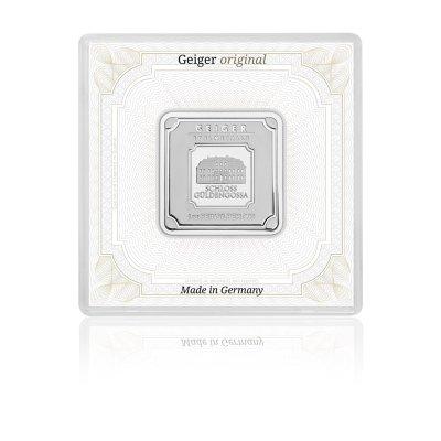 Stříbrný investiční slitek GEIGER Originál 31,1 g (1 Oz) - 1. strana