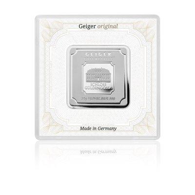 Stříbrný investiční slitek GEIGER Originál 50 g - 1. strana