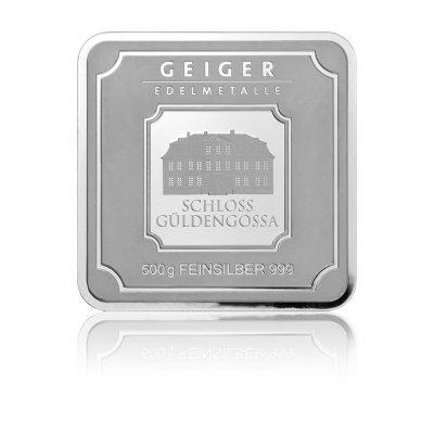 Stříbrný investiční slitek GEIGER Originál 500 g - 1. strana