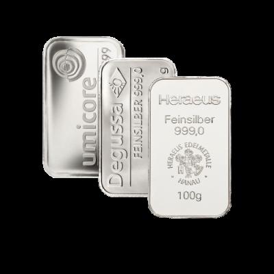 Stříbrný investiční slitek 100 g