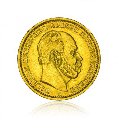 Zlatá mince Wilhelm I. von Preussen 20 Mark 7,16 g - první strana