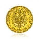 Zlatá mince Wilhelm I. von Preussen 20 Mark 7,16 g - druhá strana
