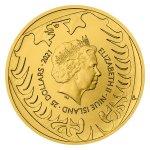 Zlatá 1/2oz investiční mince Český lev 2021 stand 15,55 g - druhá strana