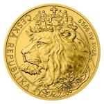 Zlatá 1/2oz investiční mince Český lev 2021 stand 15,55 g - první strana