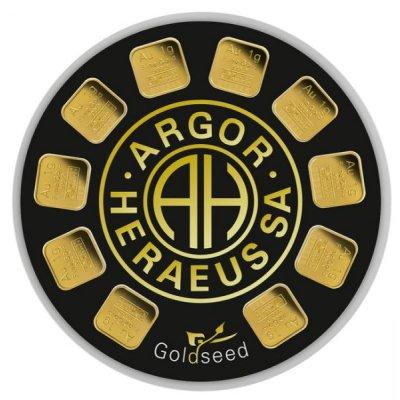 Zlatý investiční slitek Argor-Heraeus Goldseed 10 x 1 g - obrázek 1