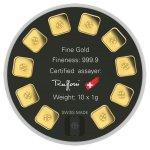 Zlatý investiční slitek Argor-Heraeus Goldseed 10 x 1 g - obrázek 2