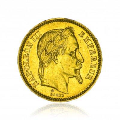 Zlatá mince Napoleon s věncem 20 Frank 5,81 g - obrázek 1