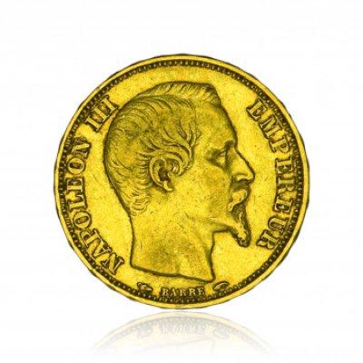 Zlatá mince Napoleon bez věnce 20 Frank 5,81 g - obrázek 1