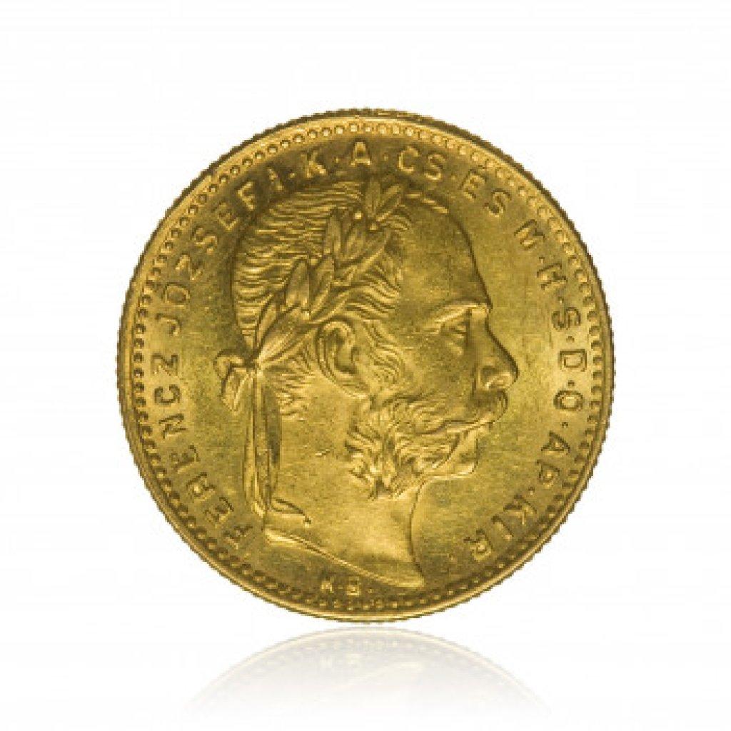 Zlatá mince 8 Forint Maďarsko 5,81 g - obrázek 1