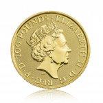 Zlatá investiční mince The Queen's Beast 2019 Falcon 31,1 g - obrázek 2