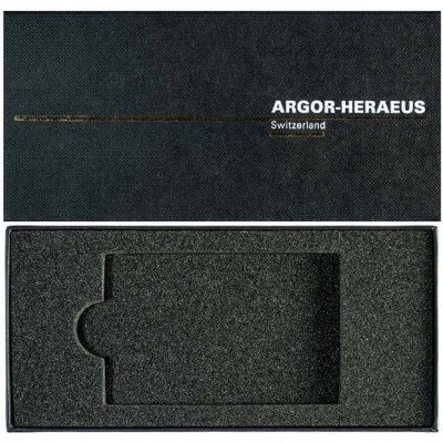 Etuje na slitek Argor-Heraeus 1 g až 100 g