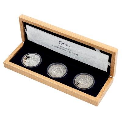 Sada tří uncových mincí Český lev 2021 - Ag/Pt/Pd PROOF 3 x 31,1 g - obrázek 1