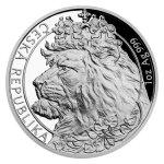 Sada tří uncových mincí Český lev 2021 - Ag/Pt/Pd PROOF 3 x 31,1 g - obrázek 2