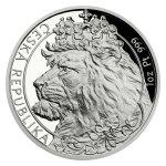 Sada tří uncových mincí Český lev 2021 - Ag/Pt/Pd PROOF 3 x 31,1 g - obrázek 6