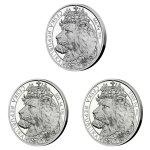 Sada tří uncových mincí Český lev 2021 - Ag/Pt/Pd PROOF 3 x 31,1 g - obrázek 8