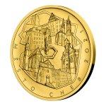 Zlatá mince 5000 Kč Městská památková rezervace Cheb 2021 STANDARD 15,55 g - obrázek 3